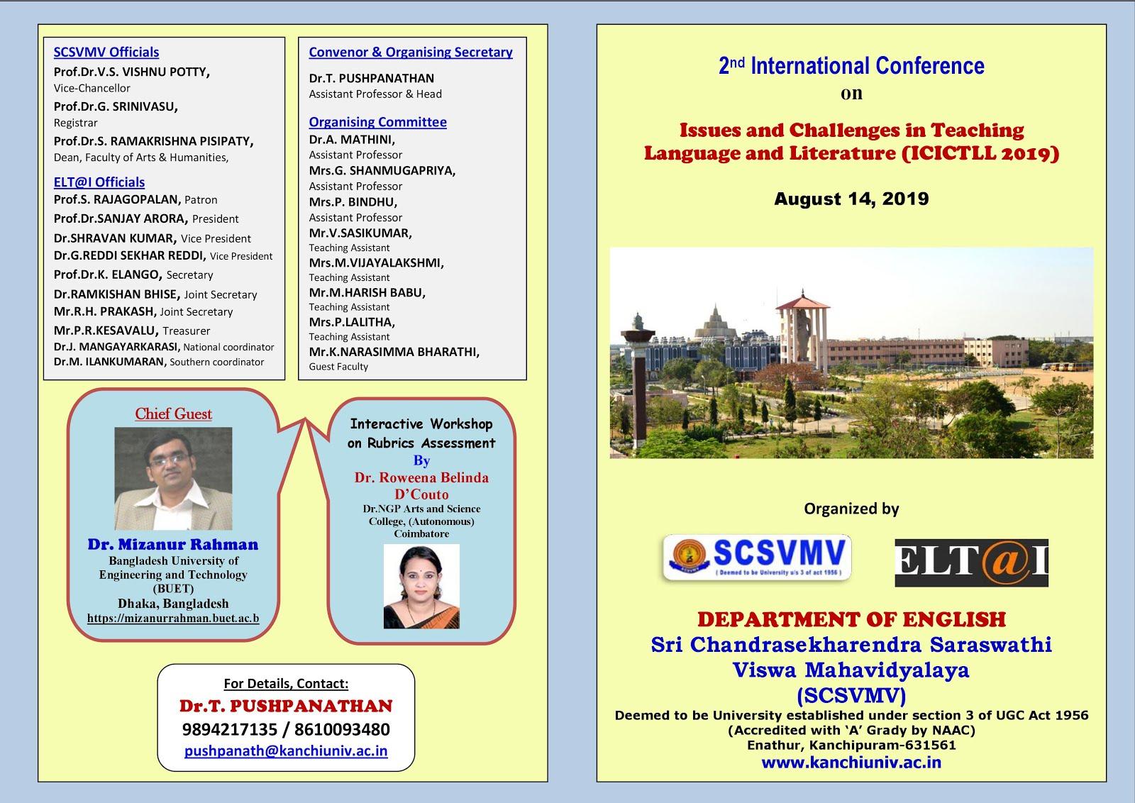 Dr KK Seminars and Conferences