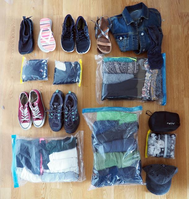 Weltreise Klamotten