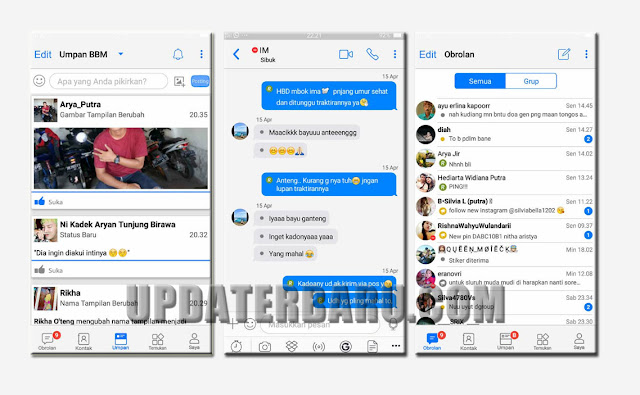 BBM Mod Theme B-IOS Style IPhone For Android v3.3.6.51 Update Versi Terbaru