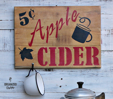 Cutting Board Apple Cider Sign