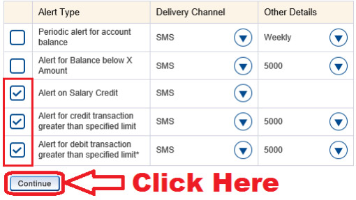 how to activate sms alert in hdfc bank online