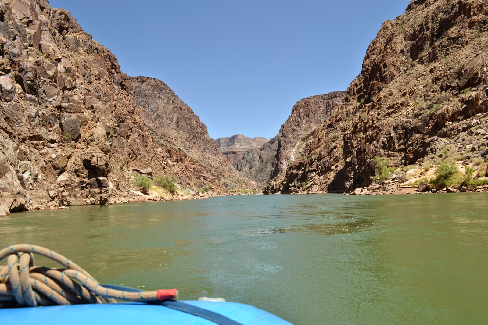 grand canyon river from raft