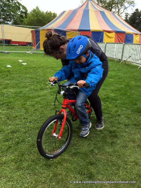Trying out an IslaBike at Geronimo 2015