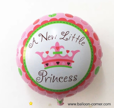 Balon Foil Bulat A New Little Princess