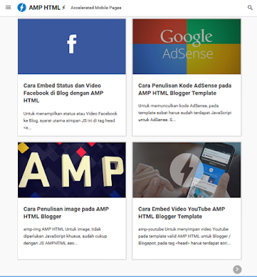 free amp html blogger template