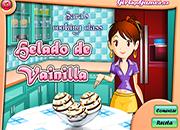 juegos de cocina con sara helado vainilla