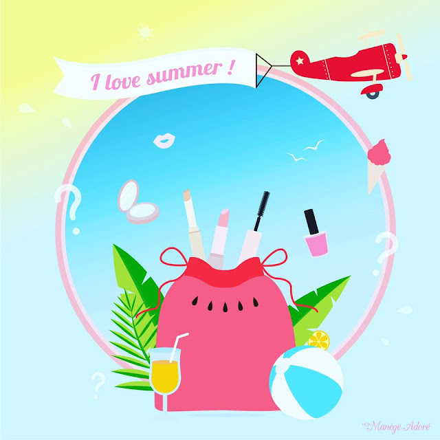 "My pocket make up : ""I love summer !"" : la box make up de l'été !"