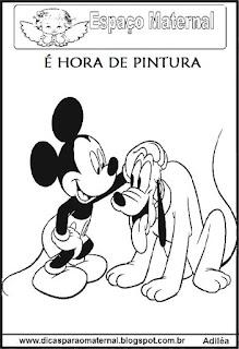 Desenho do Mickey para colorir