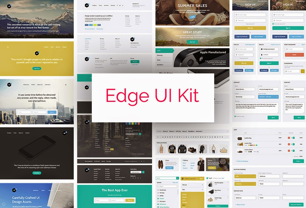 Edge UI Kit PSD