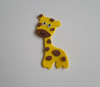 żyrafa z pianki