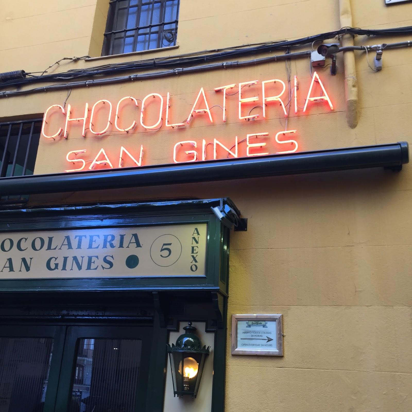 Chocolatería San Gínes