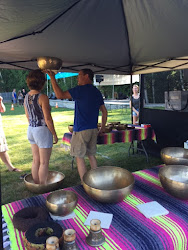 Energy singing bowls and Reiki practitioner