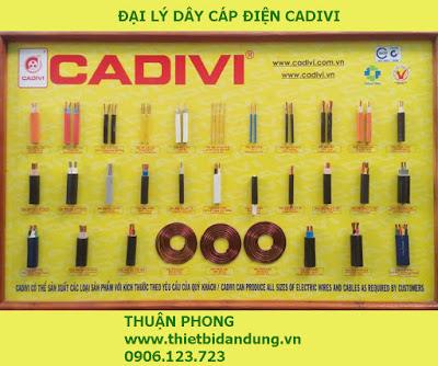 Đại lý dây cáp điện Cadivi tại Tiền Giang 100% giá gốc