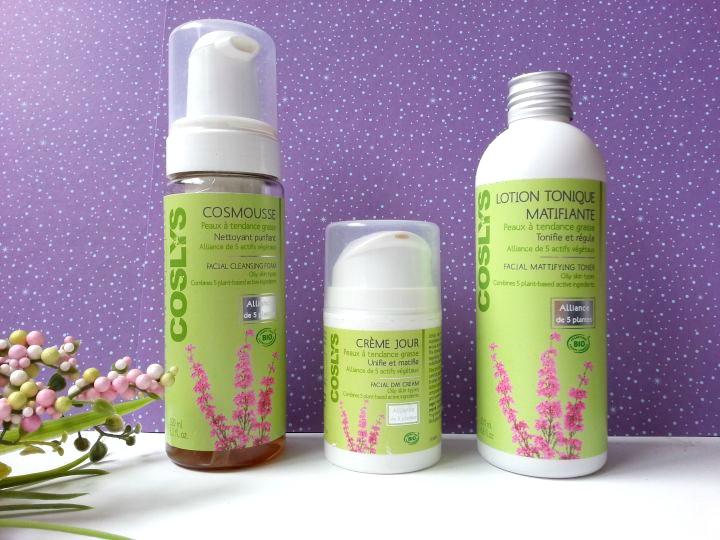 coslys gamme de soins pour les peaux grasses