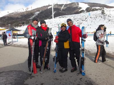 Amigos brasileiro no Cerro Catedral em Bariloche