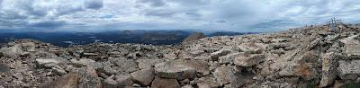 Panorama of  Bald Mountain Hike by Mirror Lake in Uintas Kamas, Utah