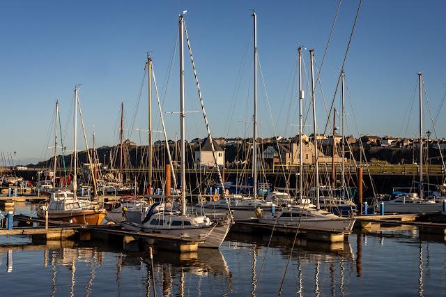 Photo of sunshine at Maryport Marina on Saturday morning