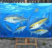 Lukisan Cat Minyak Ikan Tuna