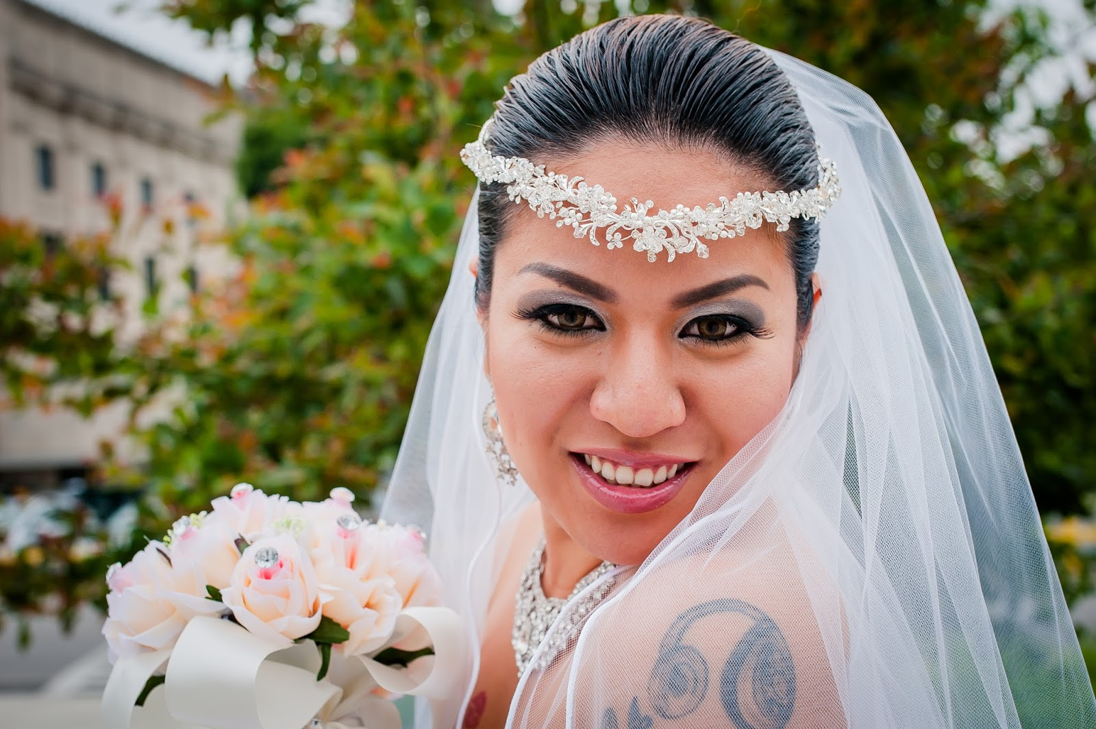 Beautiful Bride Feeling So Happy And Satisfied