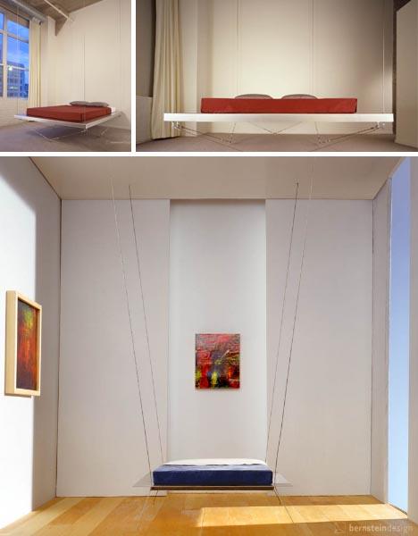 Hanging Floating Loft Bed Design Ideas   Home Decorating ...