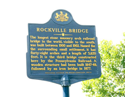Rockville Bridge Historical Marker in Harrisburg Pennsylvania