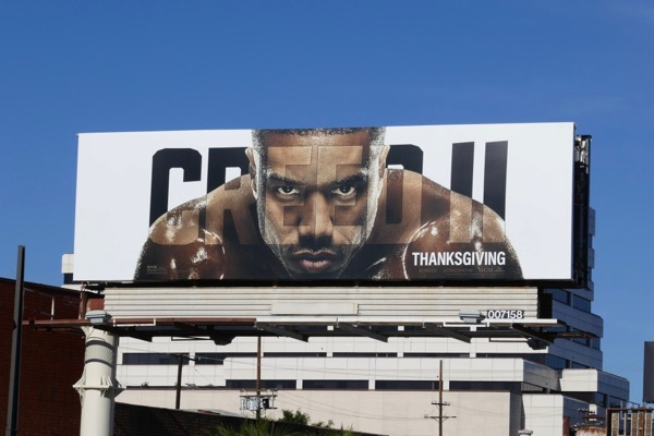 Creed 2 movie billboard
