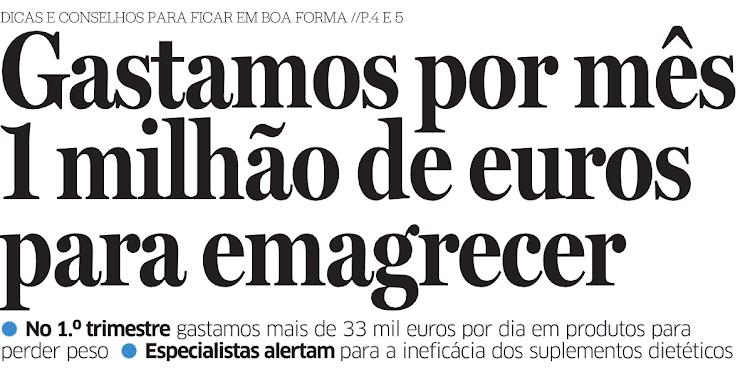 Portugueses Gastam 1 Milhão de Euros por Mês para Emagrecer