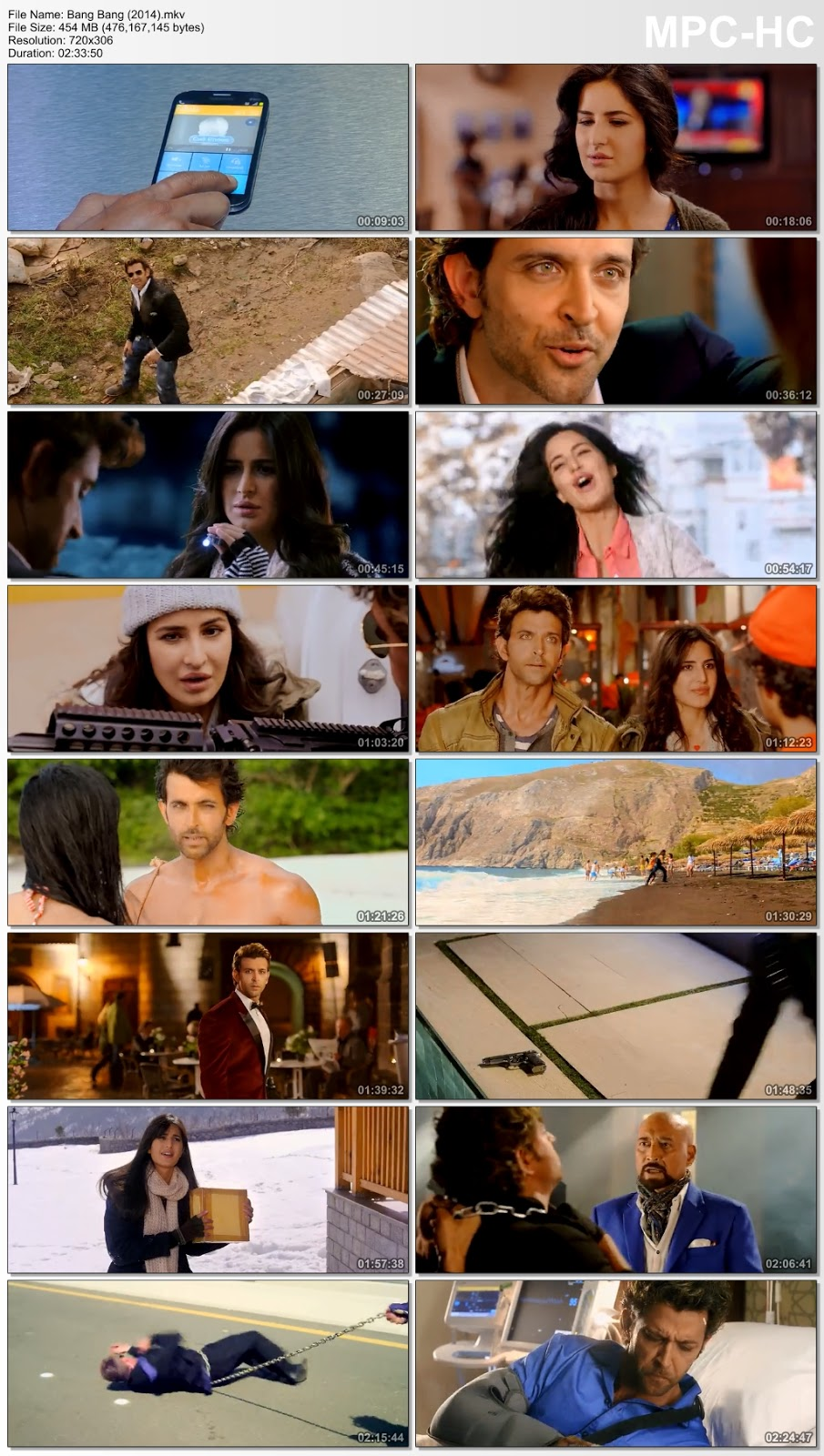 Bang Bang (2014) Hindi 480p BRRip – 450MB Desirehub