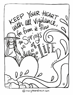A free page from my new coloring book! - Marydean Draws