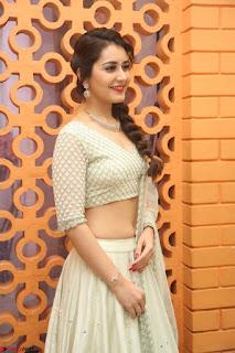 Raashi Khanan looks stunning in Crop Top Deep neck Choli Ghagra Transparent Chunni WOW ~  Exclusive Celebrities Galleries 054.JPG