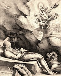 St. Jerome dying in solitude, por Luca Ciamberlano
