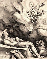 St. Jerome dying in solitude, por Luca Ciamberlano