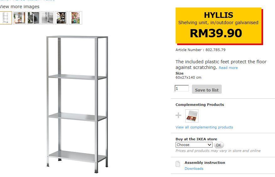 Deco Rumah Rak Hyllis Ikea