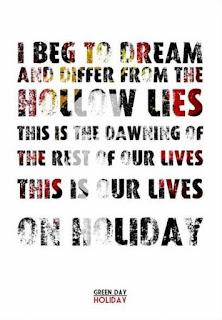 Green Day Lyrics - One Of My Lies
