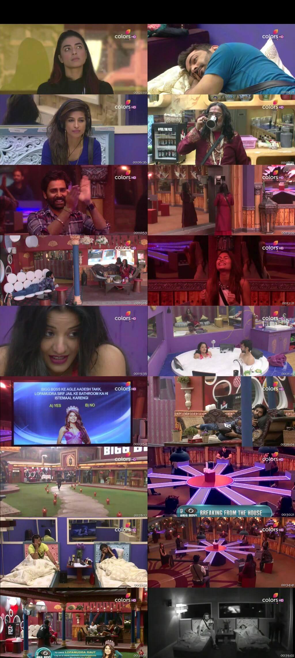 Screenshots Of Hindi Show Bigg Boss 10 13th December 2016 Episode 59 300MB 480P HD