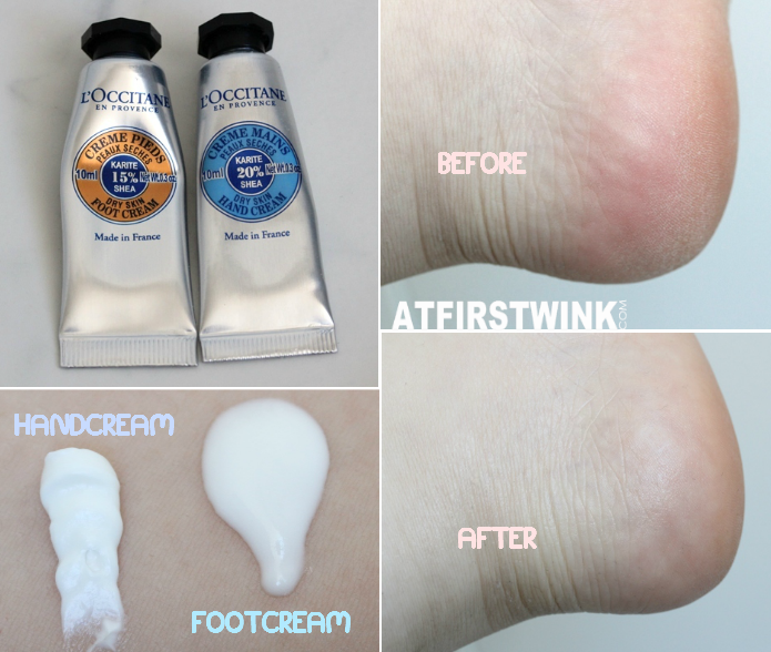 L' Occitane hand and foot cream sample review