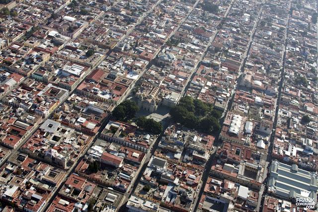 vista aerea de la catedral de oaxaca