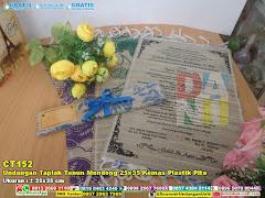 Undangan Taplak Tenun Mendong 25×35 Kemas Plastik Pita