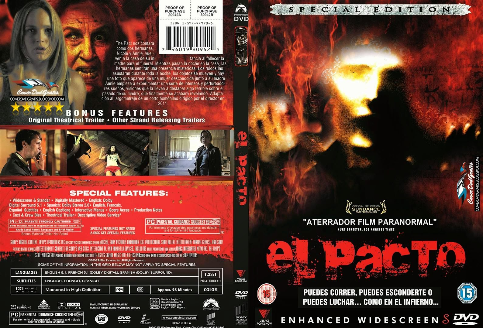 The pact dvd cover coverdvdgratis for El mural pelicula descargar