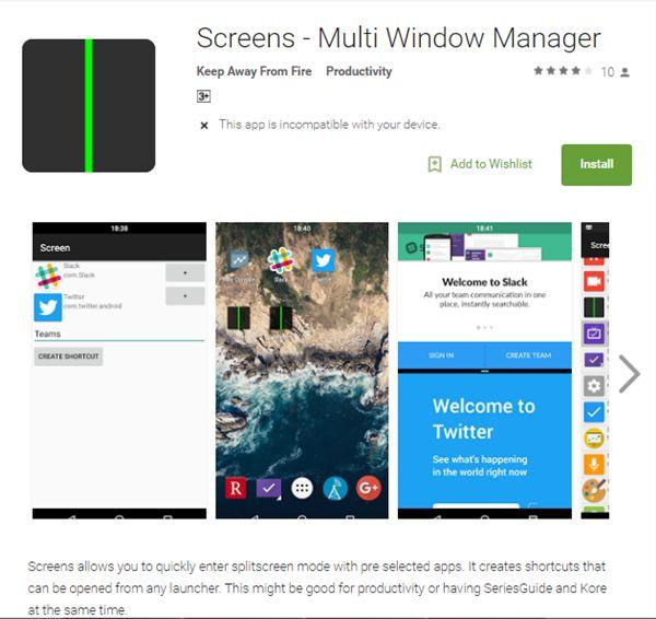 """Android App """"Screens"""" lets you launch two apps instantly in split-screen mode"""