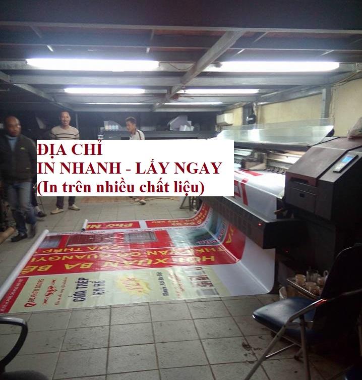Địa chỉ in phông bạt lấy ngay tại Thanh Xuân - Hà Nội