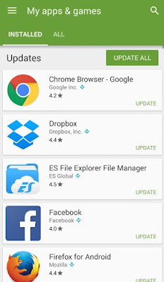 Manually update apps