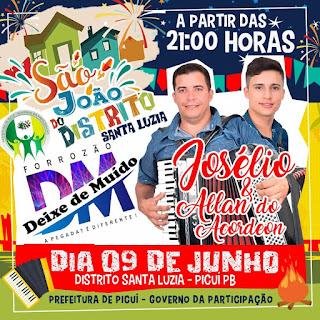 São João do distrito de Santa Luzia do Seridó acontece neste sábado (09)
