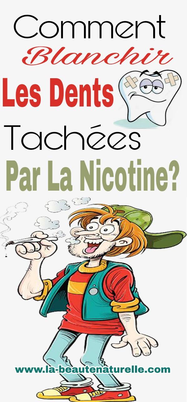 Comment blanchir les dents tachées par la nicotine?