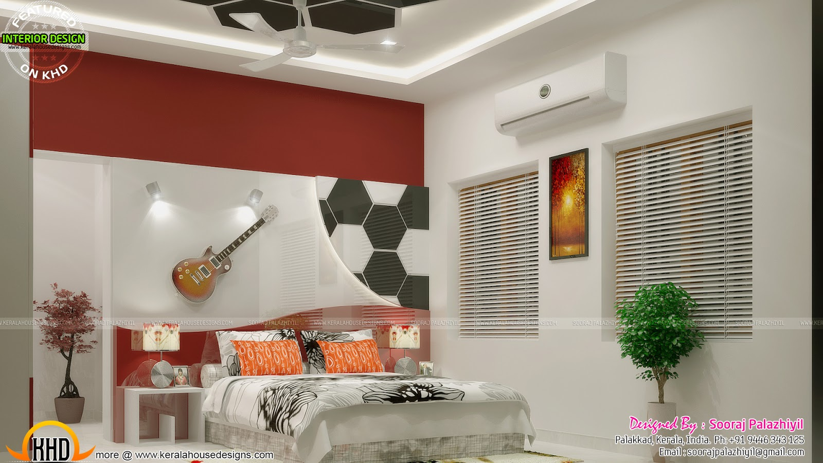 Teen Bedroom And Kid Bedroom Interiors - Kerala Home -2847