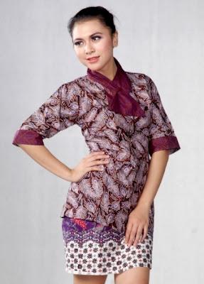 Ide baju batik pekalongan untuk wanita karir