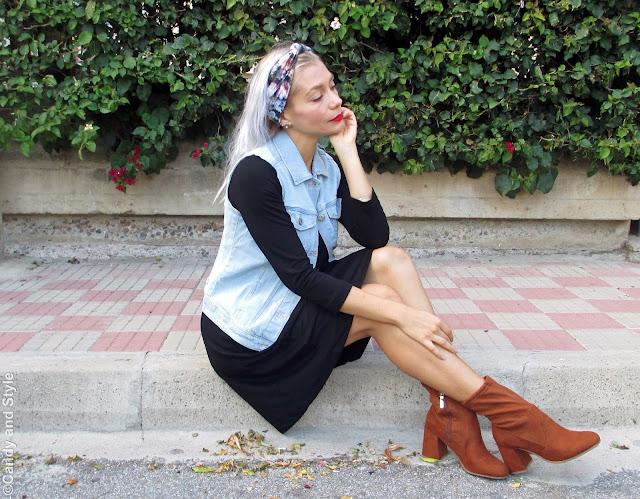 Suede Boots + Floral Headband