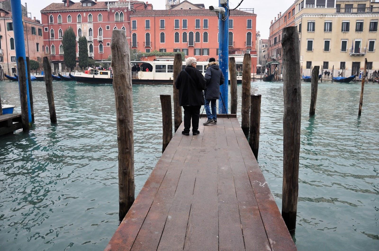 Gondola quay, Befana race, Venice, Italy
