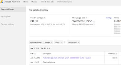 Cara Mencairkan Pembayaran Adsense di Western Union