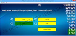 C# Bil Bakalım Bilgi Yarışması Soru - Cevap Oyunu